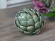 Chic Antique Artischocke Keramik grün Landhaus Shabby