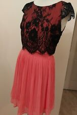 Review Chiffon & Lace Fully Lined Size 10 Stunning Feminine Formal Dress