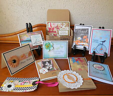 Handmade Greeting Cards Boxed Assortment of 10 Birthday Get Well Thank You +More