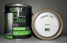 """Peinture Bois Addict """" Blanc satin """" 2,5 L"""