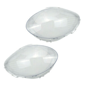1Pair PC Front Headlight Clear Lens Cover Fit For Mercedes-Benz W251 2006-2009