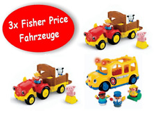 3x Fisher Price Little People Véhicules 2x tracteur + 1x Bus avec personnages + Sound!