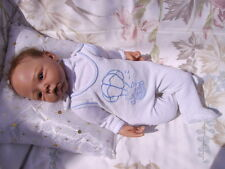 grenouillère ancienne pour bébé 1 mois ou poupée reborn,baigneur colin,nano 50cm