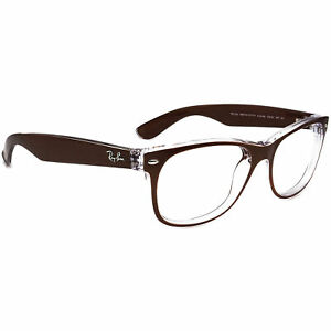 Ray-Ban Sunglasses Frame Only RB 2132 New Wayfarer 6146 Brown/Clear Italy 55mm