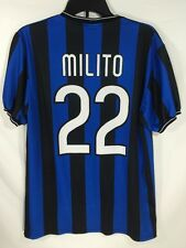 Inter Milan Jersey Shirt Maglia Milito  #22 Pirelli Blue Black XL