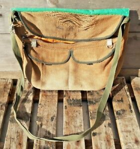 Vintage fishing bag. Fishing bag. Hessian. Angling bag. Fly fishing gear. Clean.