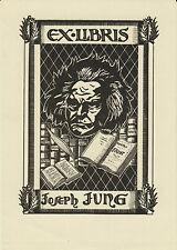 EX-LIBRIS Joseph JUNG par Albert HAEFELI (1909-1987) - METZ (Moselle) - LORRAINE