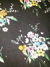 Sb Scrubs Medium Hope Print Floral Scrub Top! Guc! Medical Dental Vet Tech 😷👌!