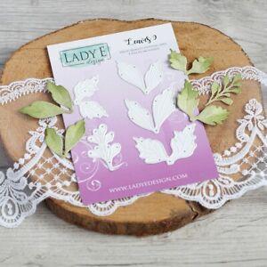 Lady E Design Leaves 9 Cutting Die Set, Flower Making, Foam Flowers