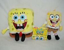 "Ty SpongeBob SquarePants Clip & SpongeBob SquarePants Mini Plush 6"" Lot of 2"