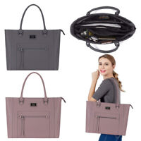 Mosiso15.6 Inch Laptop Tote Bag Premium PU Leather Briefcase Handbag for Women