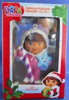 Dora The Explorer Kurt S. Adler Dora Candy Cane Snow Suit Christmas Ornament