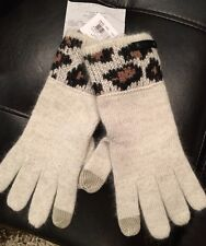 NWT Coach Knit Tech Touch Gloves F86022 OCELOT + Gift receipt+box OSFA