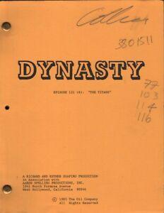 JOAN COLLINS - Original DYNASTY Script -  THE TITANS 1985 & Photo COVER SIGNED