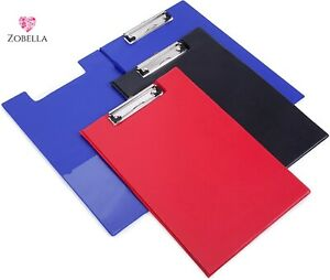 Foldover PVC A4 & A5 Clipboards - Various Bright Colours and sizes