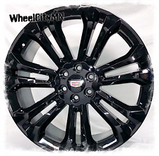 24 Inch Gloss Black 2019 Cadillac Escalade Oe Replica Wheels 6x55 New 4 Rims