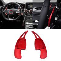 2x Volante Cambio Paddle Shift di Estensione per Audi A4 B9 Q2 S3 TTS Rosso