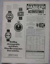 1972 Breitling Chronograph watch Original advert