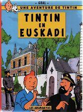 TINTIN PASTICHE. Tintin en Euskadi. Album cartonné n/blanc, 2016. PAYS BASQUE
