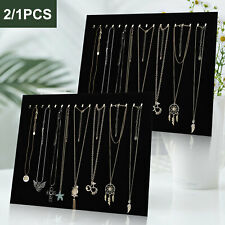 US Velvet Jewelry Display Rack Necklace Bracelet Stand Organizer Holder Storage