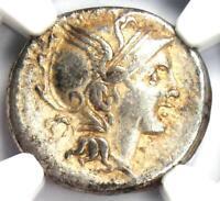 Roman Republic T. Ma. Mancius AR Denarius Coin 111 BC - Certified NGC Choice VF