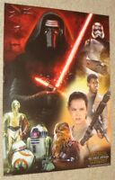 NEW MINT Star Wars Force awakens  RARE MOVIE FILM POSTER