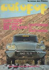 AUTOPOP 18 1973 ESSAI CITROEN DS 23 IE NUSBAUMER RALLYE JEANNE D'ARC FLANDRES