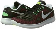 Nike Free RN 2017 Black/Hot Punch Textile Men's Running Trainers Shoes UK 6