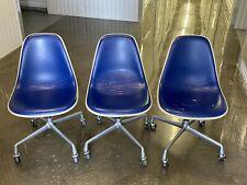 Vintage HERMAN MILLER fiberglass MCM Eames padded swivel fiberglass chair lot