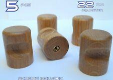 5 Small Wooden Kitchen Door Knobs Handles Drawers Cabinets Cupboards Oak 22mm