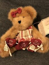 Rare & Hard To Find Longaberger Exclusive Boyds Bear Luvey Heartstrings 8� Nwt