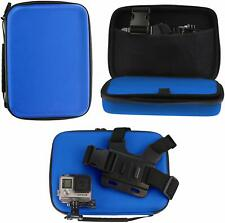 Navitech Blue Action Camera Hard Case For Camsports Evo 1080  NEW