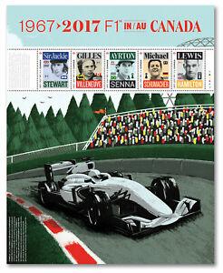 Canada 2992 Formula 1 F1 souvenir sheet MNH 2017