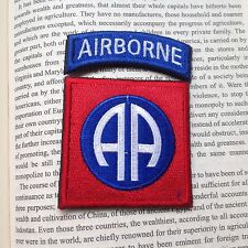 82nd Airborne Infantry Division MILITARY MORALE Embrodiered PATCH  RED