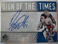 2000-01 SP AUTHENTIC SIGN OF THE TIMES RON TUGNUTT , BLUE JACKETS !!!  BOX # 7