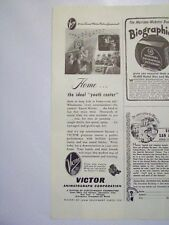 1947 Victor 16mm Home Motion Picture Projector Magazine Print Advertisement Page