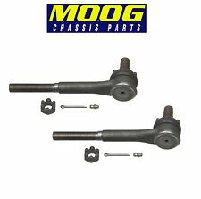 For Chevy C20 Suburban GMC Pair Set of 2 Front Outer Steering Tie Rod Ends Moog