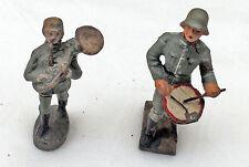2 Soldiers Drum and Wind instrument LINEOL ELASTOLIN Dimensions figure 2. WK,II