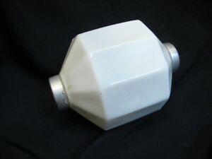 10 Sided D&S Jewel Diamond Milk Glass Lightning Rod Ball Globe Weather Vane Barn