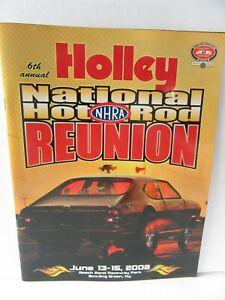 2008 NHRA Holley Hot Rod Reunion Program Beech Bend Raceway Bowling Grn Kentucky