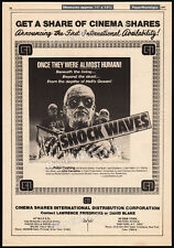SHOCK WAVES__Original 1977 Trade AD promo / poster__PETER CUSHING__Nazi Zombies