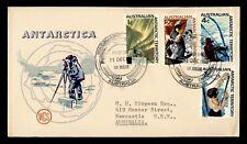 1966 AUSTRALIAN ANTARCTIC TERRITORY FDC WCS CACHET COMBO