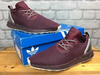 ADIDAS OG MENS UK 10 EU 44 2/3 ZX FLUX ADV ASYMMETRICAL MAROON  TRAINERS LG