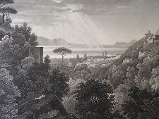 d'ap. TURPIN DE CRISSÉ (1782-1859) GRAVURE CAPO DI MONTE NAPOLI ITALIA 1825