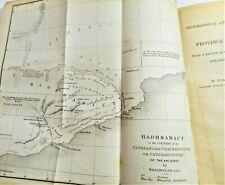 1845 YEMEN MAP SYRO-EGYPTIAN SOCIETY PAPERS PHARAOH OBELISK HADHRAMAUT TRAJAN