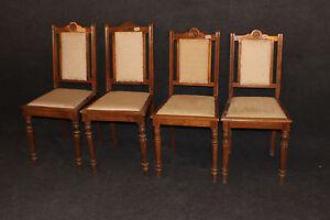 Stuhl, 4 Stühle bürgerlich Louis Philippe, Gründerzeit, Buche #2363