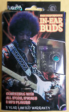 Section 8 Jimi Hendrix High Performance GOLD PLATED 1.2m Earbuds NEW IN BOX