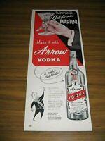 1953 Print Ad Arrow Vodka California Martini Arrow Liqueurs Detroit,MI