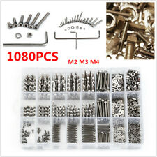 1080PCS Stainless Steel Screw Nut Hex Socket Head Cap Screws Assortment Set Box