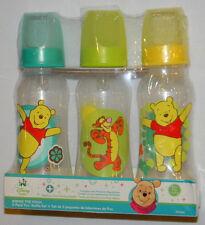 New Disney Baby Winnie The Pooh Tigger Blue Yellow Green 9 Oz 3 Pk Feed Bottles